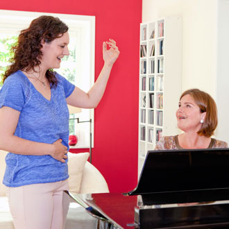 Gesangsunterricht am Klavier